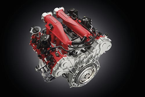 Ferrari California T 3.8 litre V8 turbocharged engine