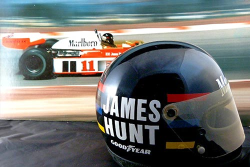 1978 James Hunt race helmet, silverstone auctions 2014