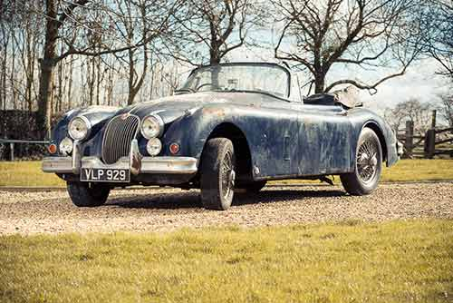 Jaguar XK150 barn find