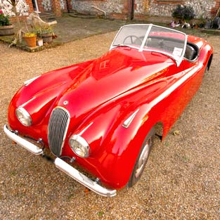 Jaguar XK120 - carphile.co.uk