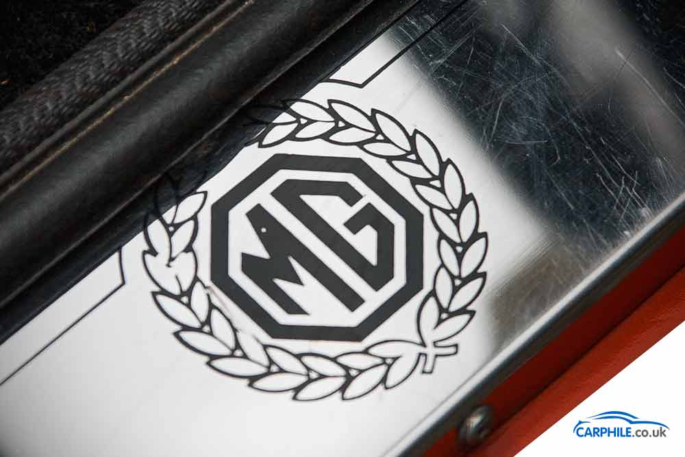 MG MGB photo gallery Mark 3 sill wreath logo