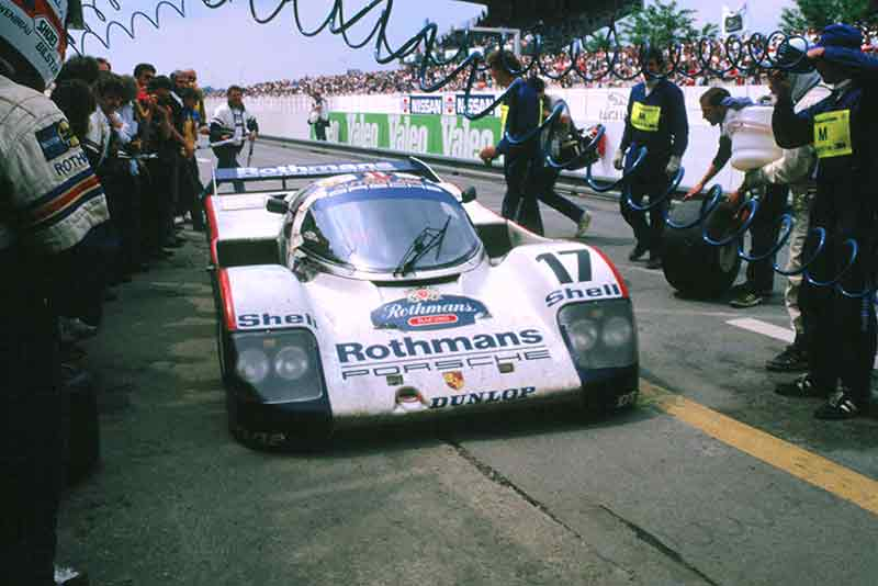 Porsche 962 Le Mans winner at Porsche festival 2014