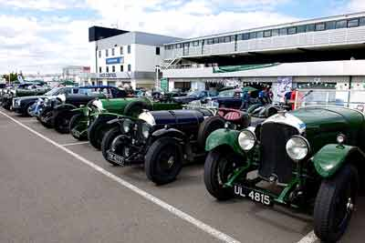 Wall-to-wall Bentleys at BDC Silverstone race day - on track, on display on parade
