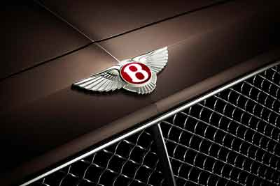 Bentley badge - Flying B emblem - Bentley History - carphile.co.uk