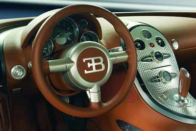 Bugatti Veyron interior - carphile.co.uk