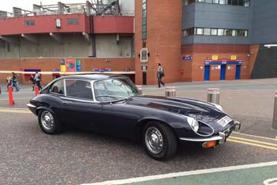 George-Bests-EType-Jag-Classic Car Show Manchester 2015 - carphile.co.uk