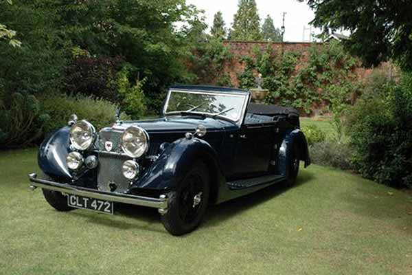 Rare Alvis 20 SD convertible for sale at Barons Sandown Park sale - carphile.co.uk
