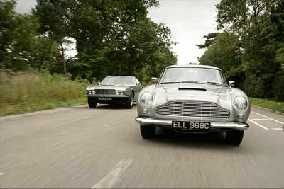 Aston Martin DBS and DB5