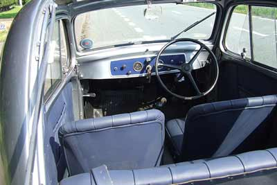 Fiat 500 Topolino interior