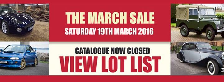 CCA March Sale 2016 - auctions - carphile.co.uk