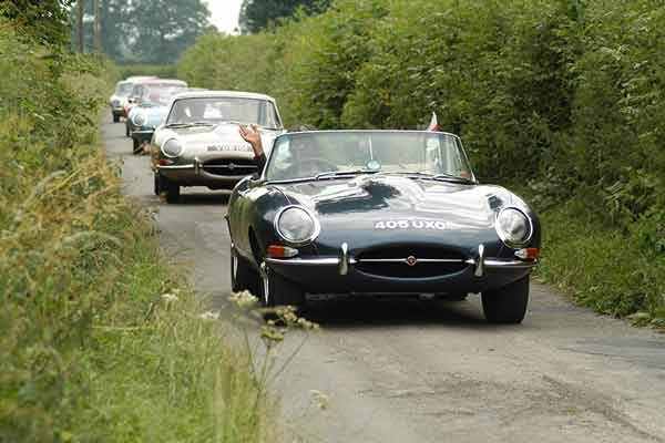 Jaguar E Type club prostate cancer fundraising rally - carphile.co.uk