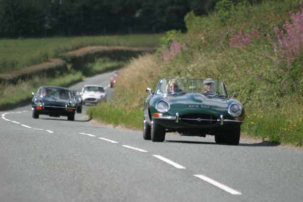 Jaguar E-Type club charity coastal drive 2016