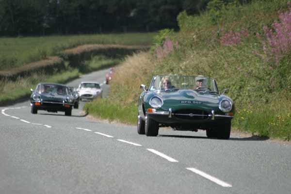 Jaguar E-Type club charity coastal drive 2016