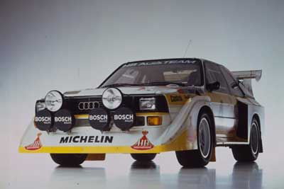 See Group B rally heroes like this Audi Quattro Sport S1 in action