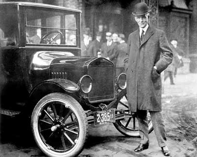 Henry Ford with Model T - Ford Model T history - carphile.co.uk