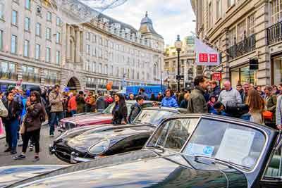 Jaguar Drivers club at Regent Street Motorshow - carphile.co.uk
